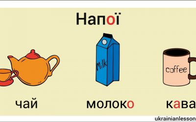 Drinks in Ukrainian – Напої
