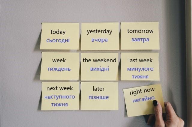 date in Ukrainian